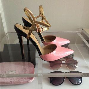 Pink & Gold High Heels